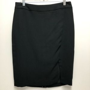 NWT Talbots Front Side Slit Black Skirt
